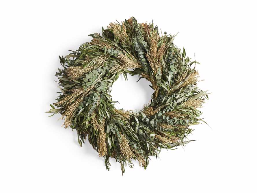 "Fresh 30"" Olive and Eucalyptus Wreath, slide 5 of 5"