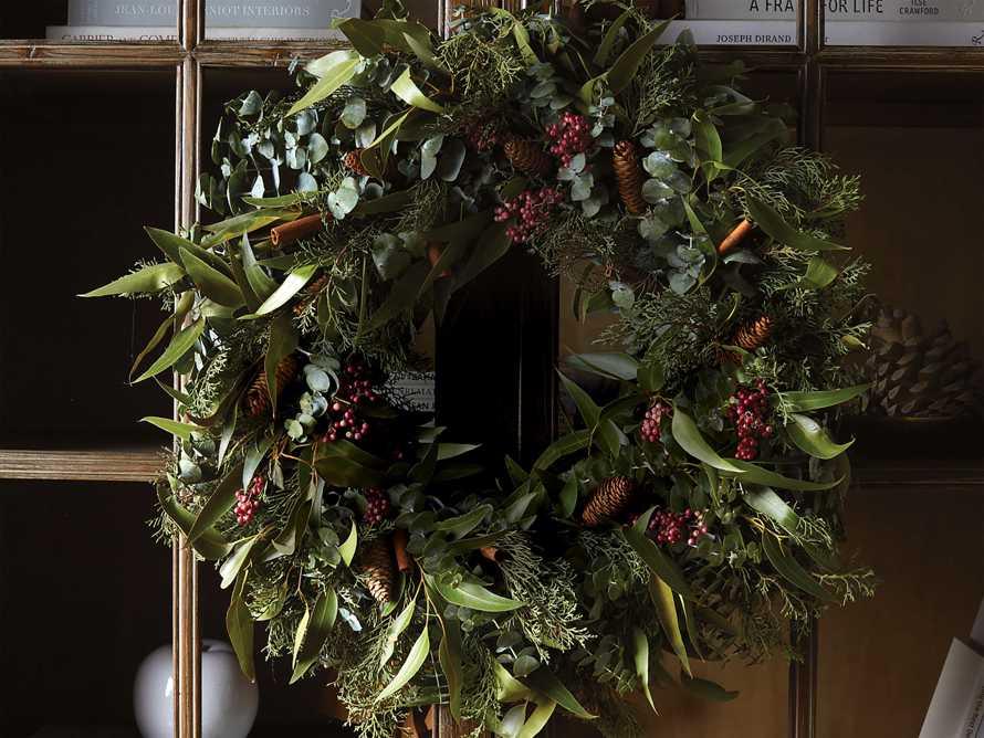 Fresh Pinecone & Berry Wreath, slide 3 of 5