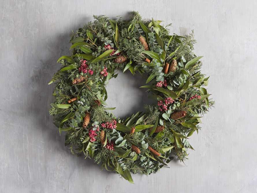 Fresh Pinecone & Berry Wreath, slide 1 of 5