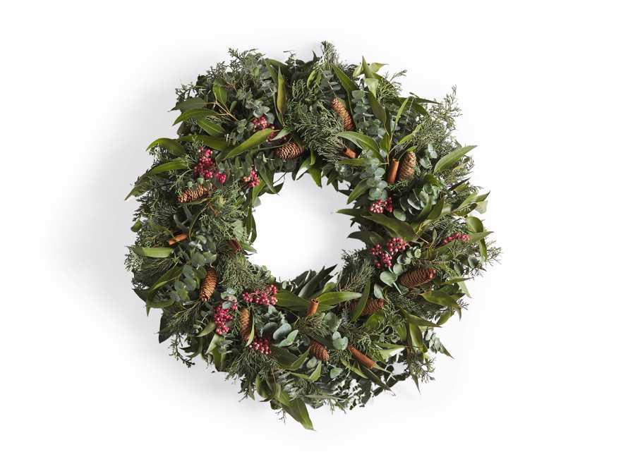 Fresh Pinecone & Berry Wreath, slide 5 of 5