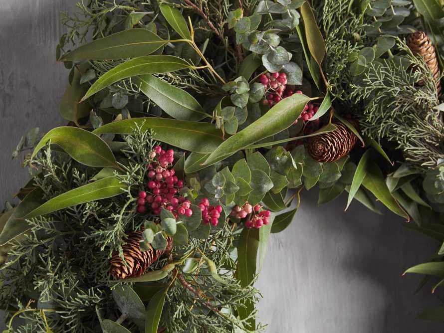 Fresh Pinecone & Berry Wreath, slide 2 of 5