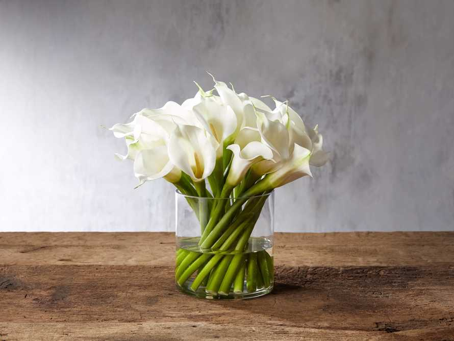 Faux Calla Lily in Vase, slide 1 of 1