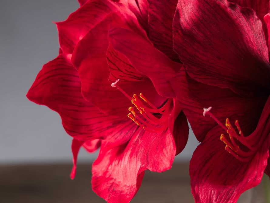 "Faux Garden Amaryllis Vase 14"", slide 2 of 3"
