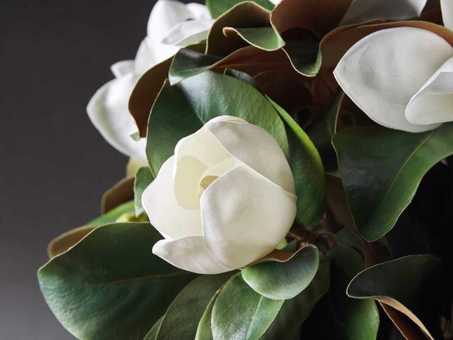 """Faux Magnolia in White Vase 30.5"""", slide 2 of 2"""