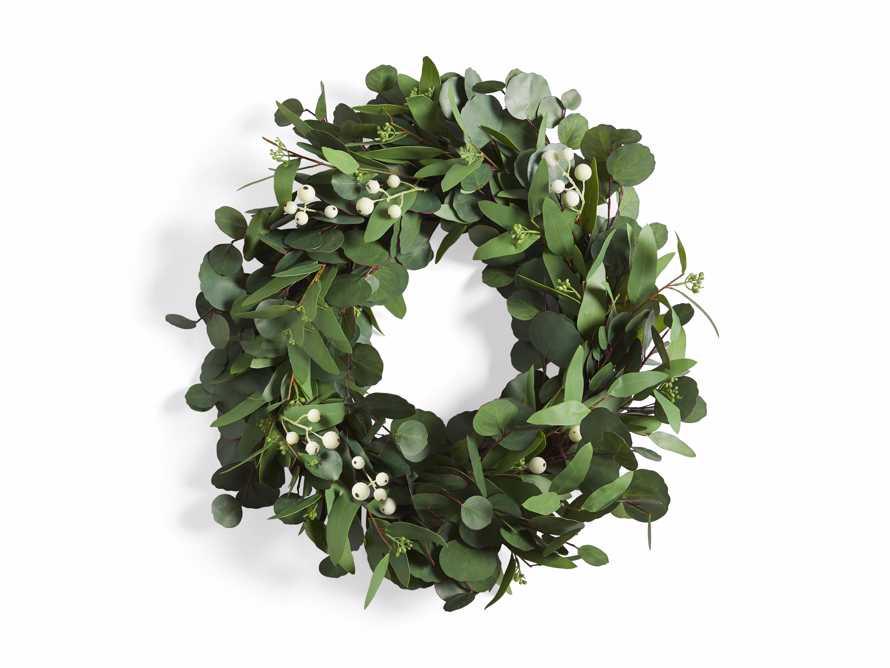 "Faux Seeded Eucalyptus Wreath 24"", slide 3 of 3"