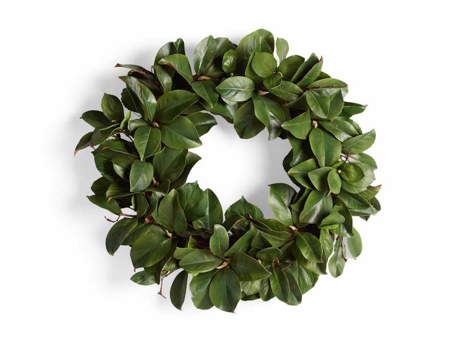"Faux Magnolia Twig Wreath 30"", slide 5 of 5"