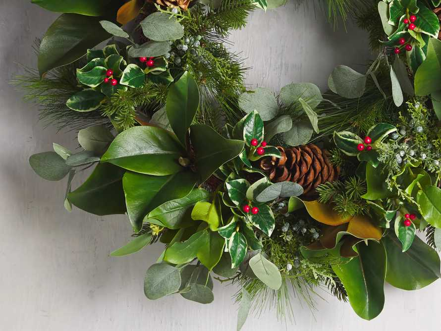 "Faux Classic Wreath 26"", slide 2 of 3"