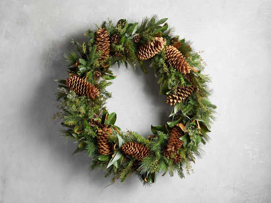 """Faux Pinecone Grand Wreath 42"""", slide 1 of 2"""