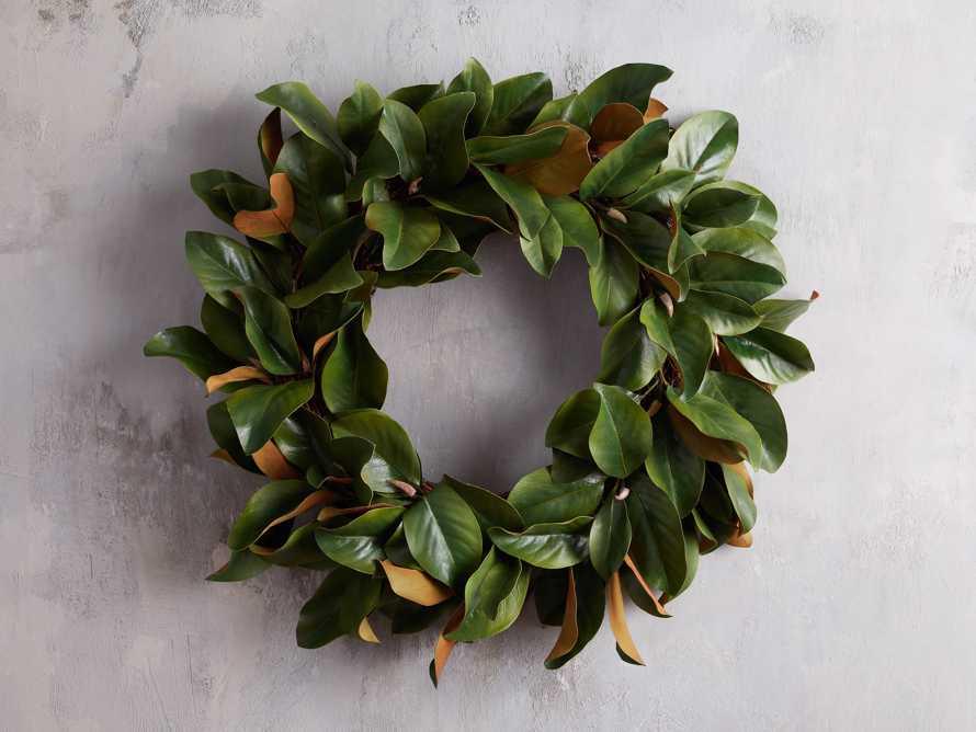 Faux Small Magnolia Leaf Wreath, slide 1 of 3