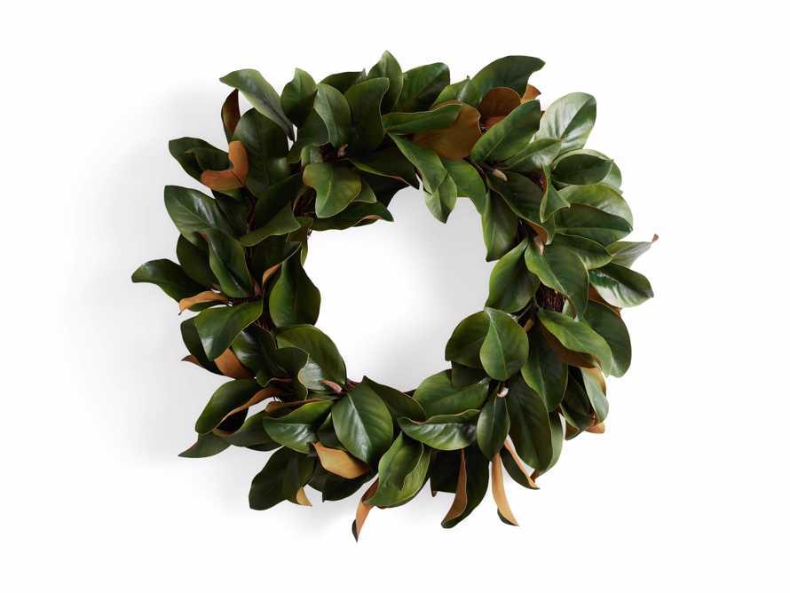 Faux Small Magnolia Leaf Wreath, slide 3 of 3