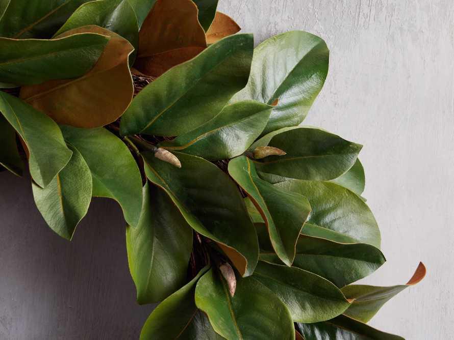 Faux Small Magnolia Leaf Wreath, slide 2 of 3