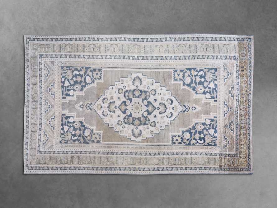 """One of a Kind 6'3"""" x 10'6"""" Vintage Turkish Oushak Rug, slide 2 of 4"""