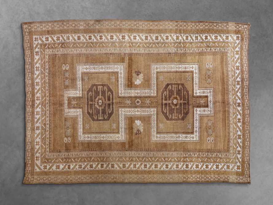 One of a Kind 6'3 x 9' Vintage Turkish Oushak Rug, slide 2 of 4
