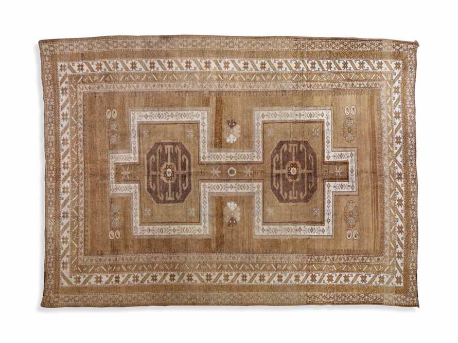 One of a Kind 6'3 x 9' Vintage Turkish Oushak Rug, slide 4 of 4