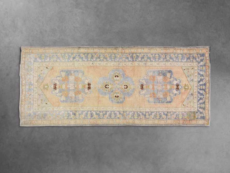 "4'8"" x 12' Vintage Turkish Oushak Rugs, slide 2 of 3"