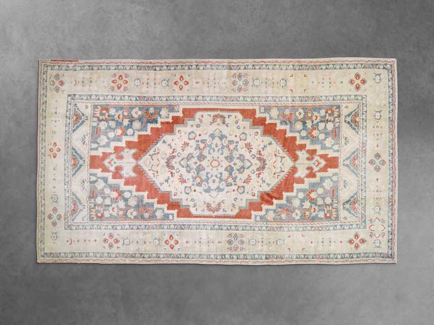 "One of a Kind 6'5"" x 11'4"" Vintage Turkish Oushak Rugs, slide 2 of 3"
