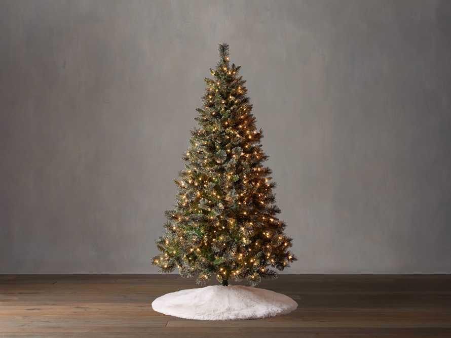 7.5' Pre-Lit Glitter Cashmere Tree, slide 1 of 4