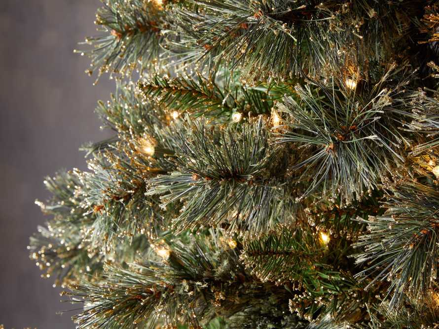 7.5' Pre-Lit Glitter Cashmere Tree, slide 3 of 4