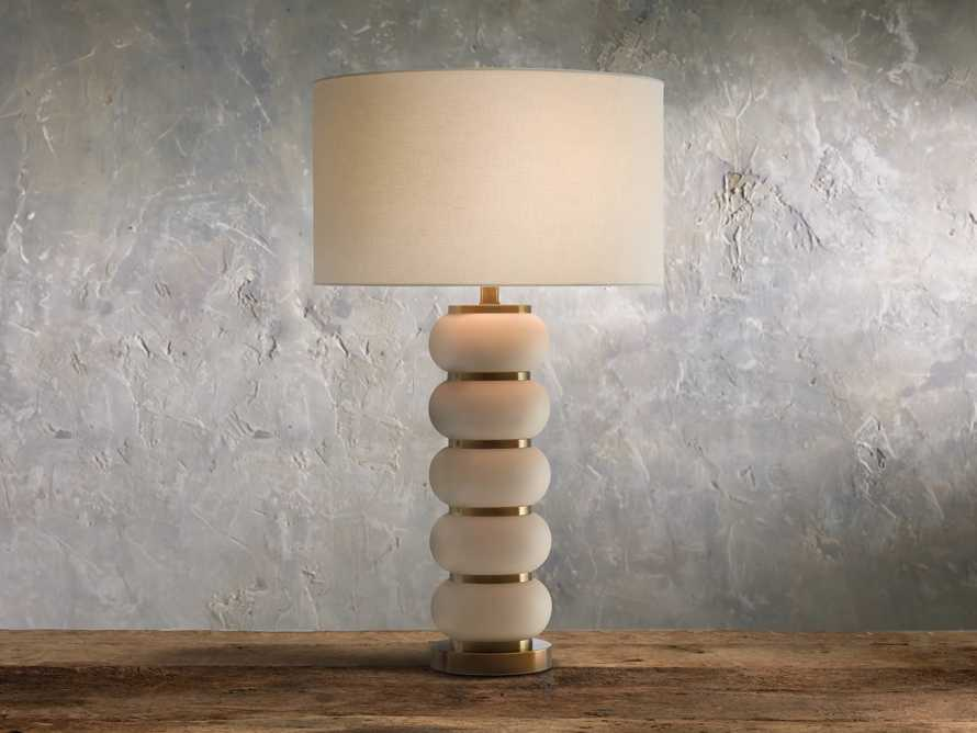Novak Ivory Table Lamp, slide 1 of 2