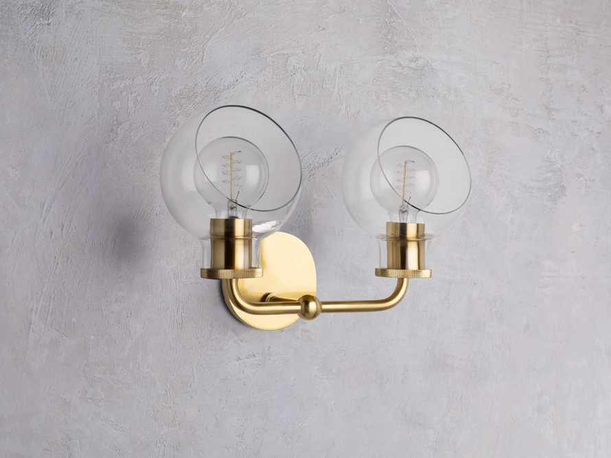 Maisie 2-Light Vanity Sconce in Brass, slide 2 of 3
