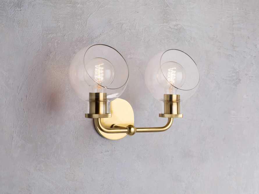 Maisie 2-Light Vanity Sconce in Brass, slide 1 of 3