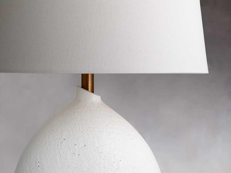 Khan Table Lamp in White, slide 2 of 3