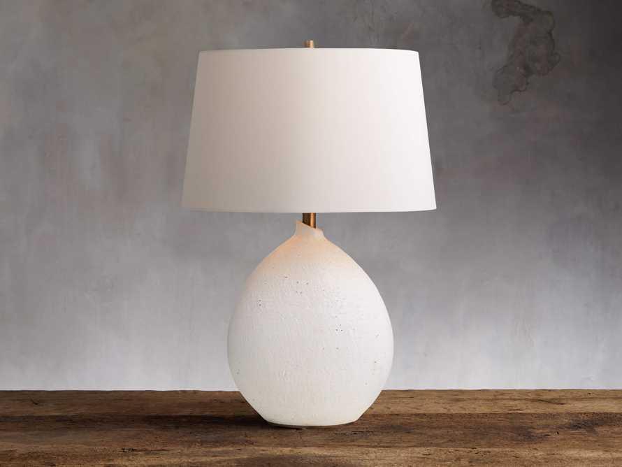 Khan Table Lamp in White, slide 1 of 3
