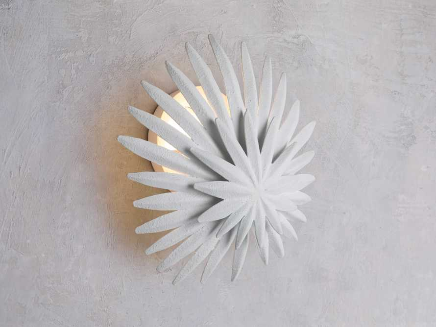 ESME WHITE GESSO WALL SCONCE, slide 1 of 5