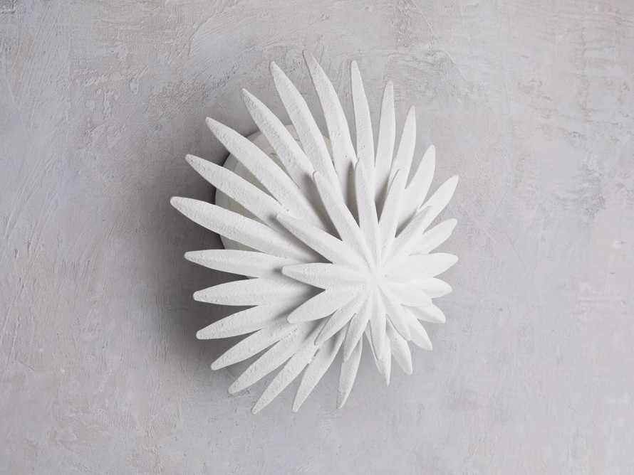 ESME WHITE GESSO WALL SCONCE, slide 2 of 5