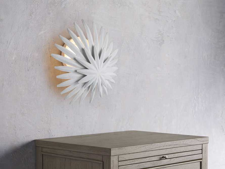 ESME WHITE GESSO WALL SCONCE, slide 3 of 5