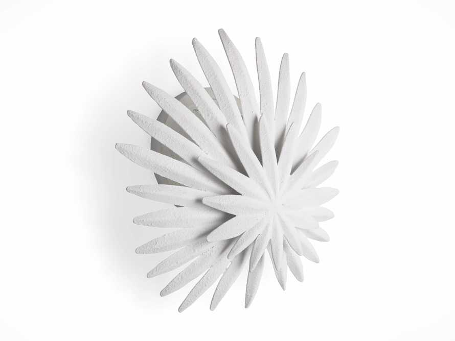 ESME WHITE GESSO WALL SCONCE, slide 5 of 5