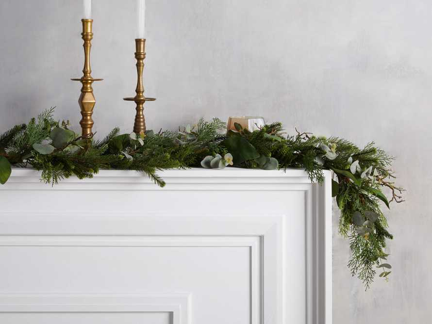 Faux Mixed Greenery Garland, slide 1 of 2