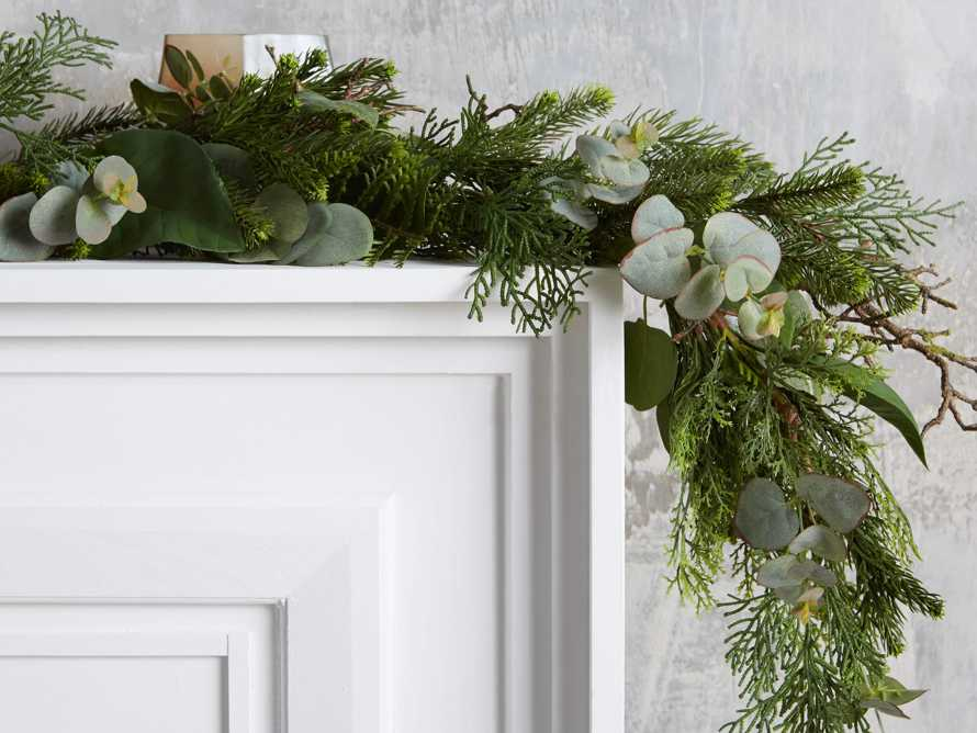 Faux Mixed Greenery Garland, slide 2 of 2
