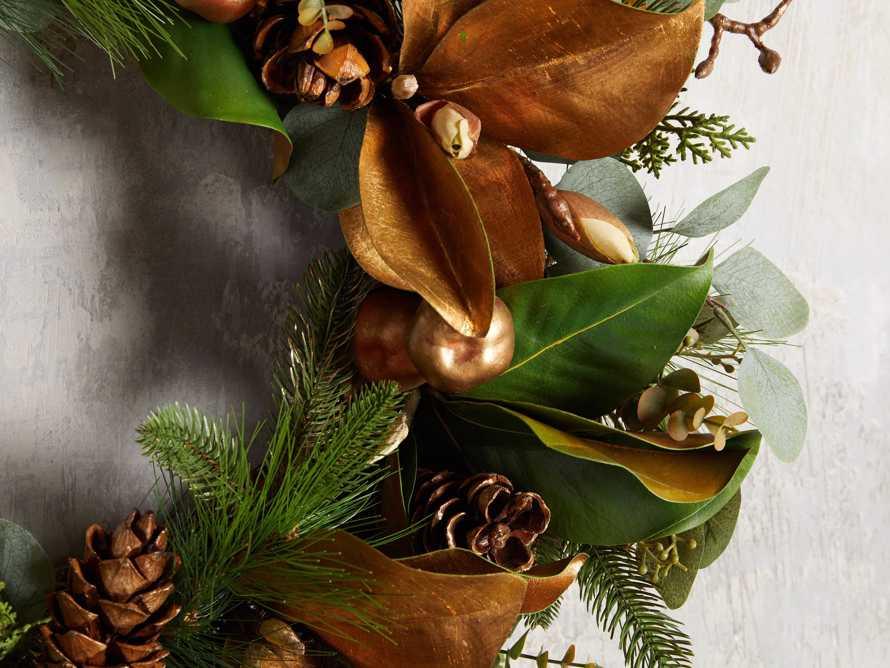 Faux Golden Mix Wreath, slide 2 of 4
