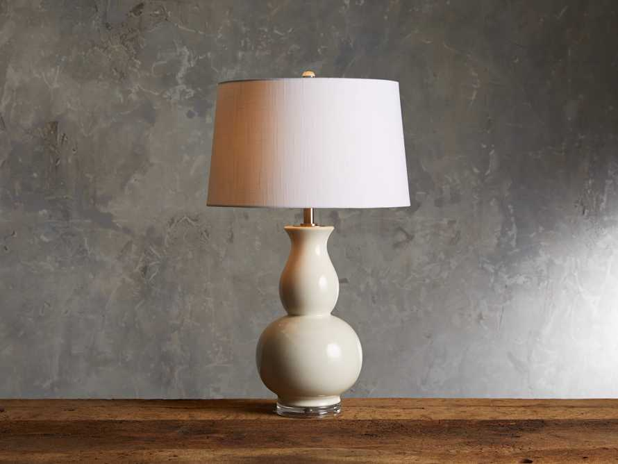 Hagen Table Lamp in Ivory, slide 1 of 3