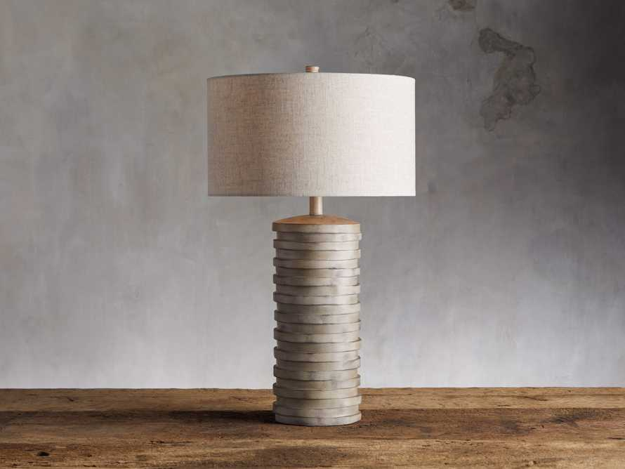 Maeve Taupe Table Lamp, slide 1 of 3