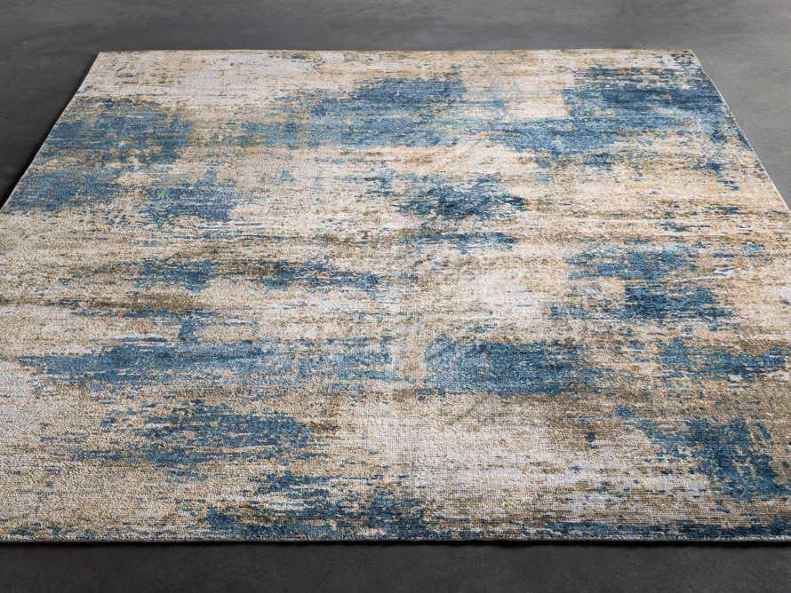 5 X 7'6 Lynden Blue Rug, slide 3 of 4