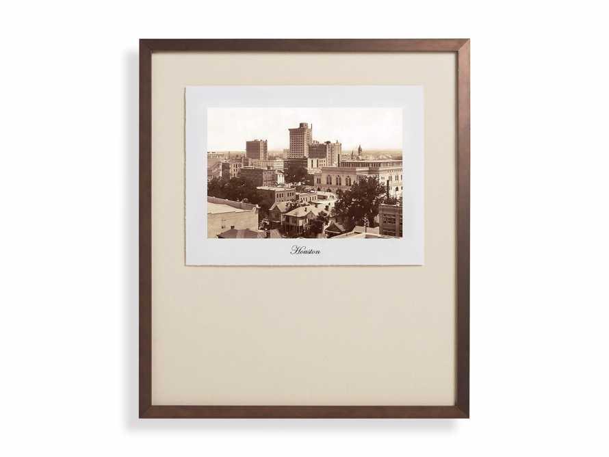 """27"""" Framed Postcard from Houston 1"""