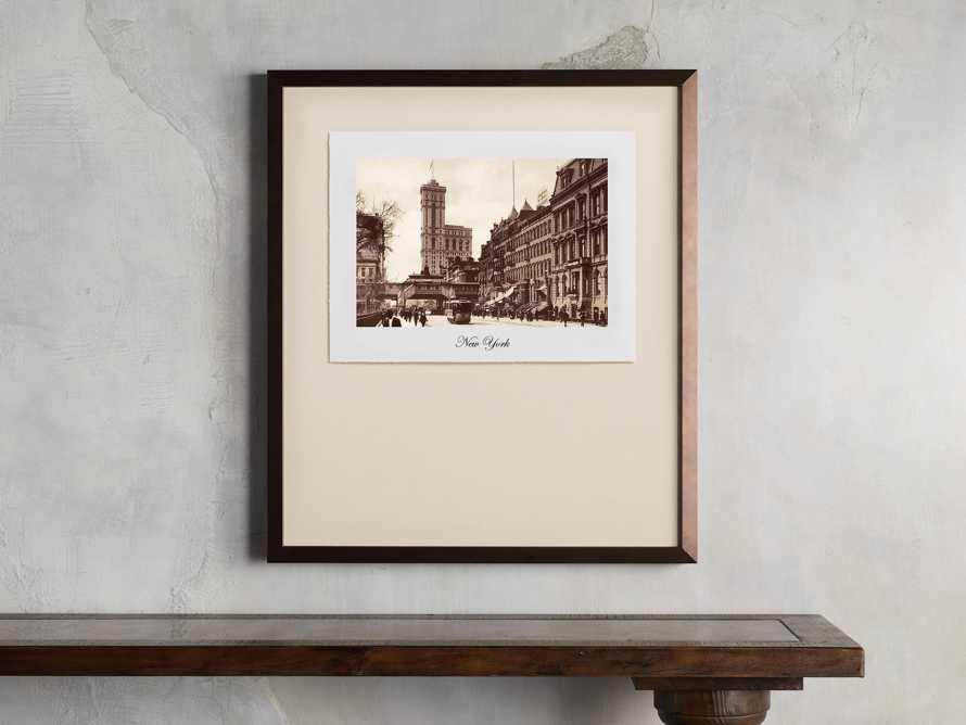 """27"""" Framed Postcard from New York 2"""