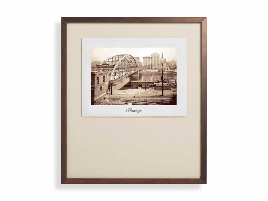 """27"""" Framed Postcard from Pittsburgh 2"""