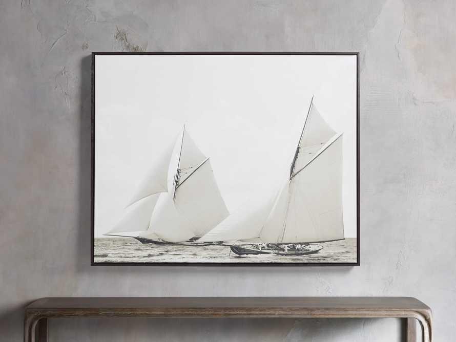 Sepia Sails Framed Print, slide 1 of 3