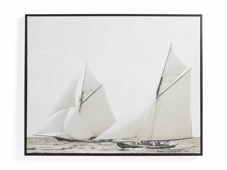 Sepia Sails Framed Print, slide 3 of 3