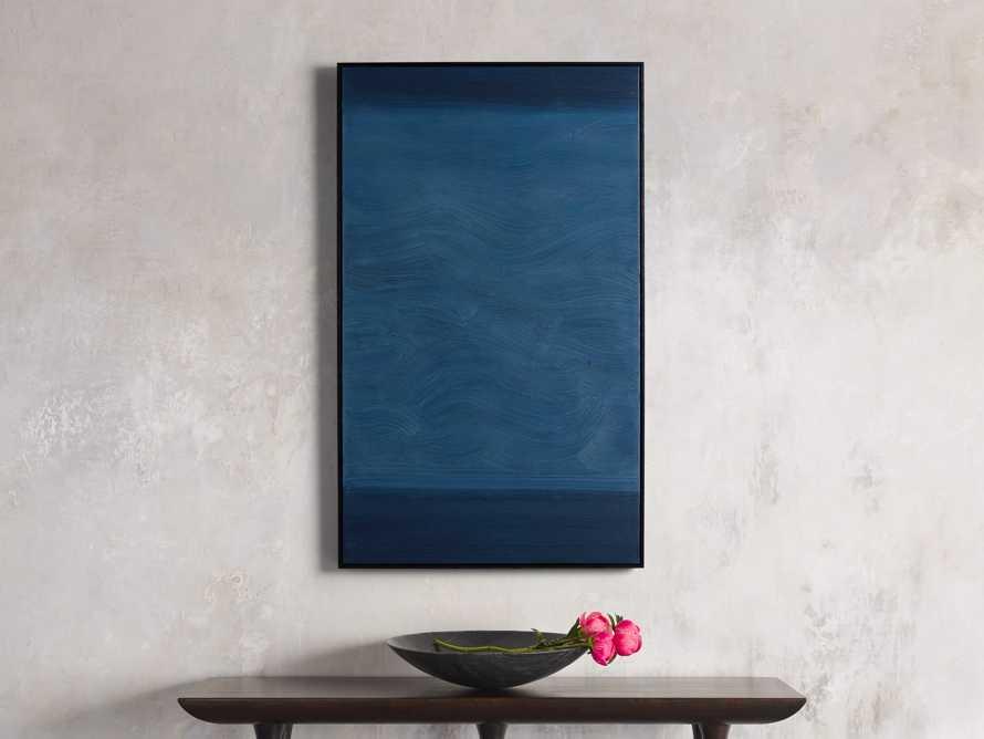 Indigo Waves Framed Painting, slide 1 of 5