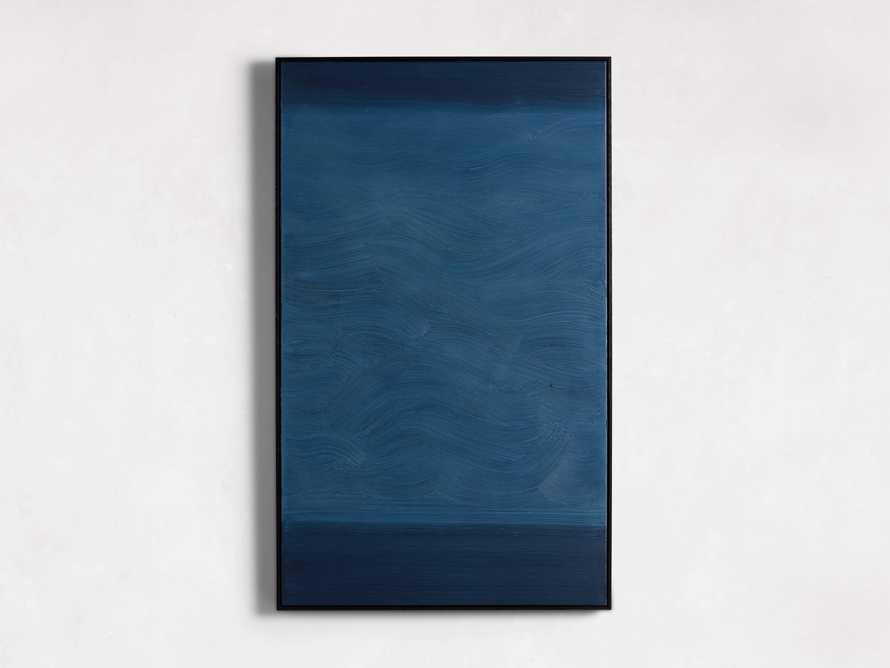 Indigo Waves Framed Painting, slide 3 of 5