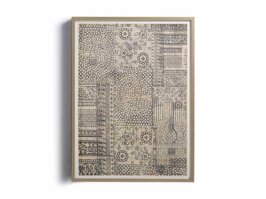 """34"""" Textile Motif Framed Print 1"""