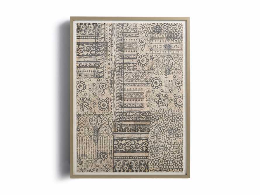 """34"""" Textile Motif Framed Print 2"""