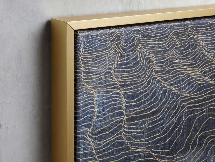 Water Marks Framed Print