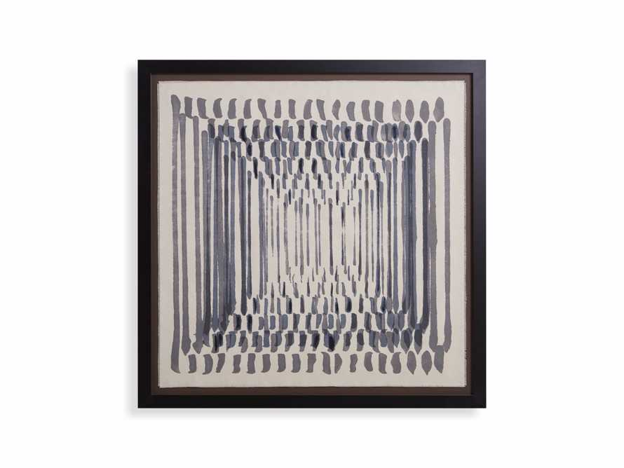 Abstract Lines Framed Tapestry 3
