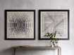 Abstract Lines Framed Tapestry 4