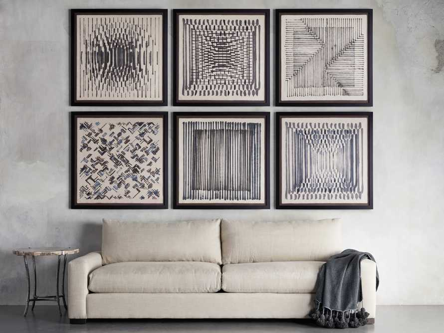 Abstract Lines Framed Tapestry 5